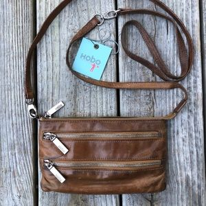 Hobo 'Cristel' Crossbody Purse - caramel, leather